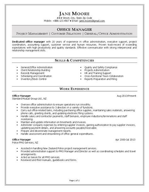 administrative resume skills list administrative assistant resume