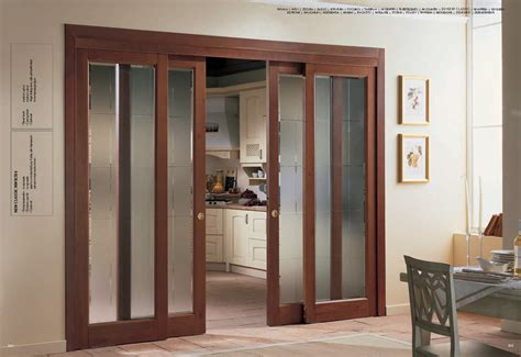wooden glass doors interior frosted glass sliding door with wooden trim for home