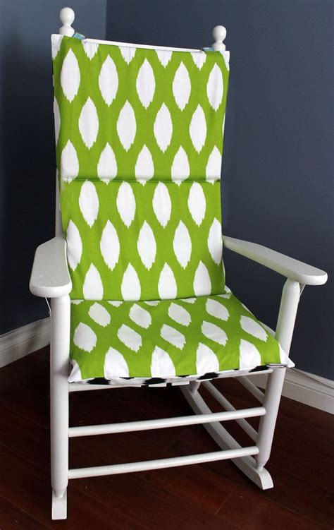 green room rocking chair rocking chair cushion ikat black green white