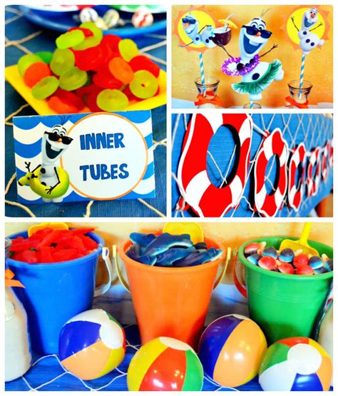 summer party decorations kara s party ideas olaf s summer bash frozen themed