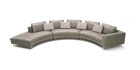 Taupe Sectional by Divani Casa Tulip Modern Taupe Leather Sectional Sofa