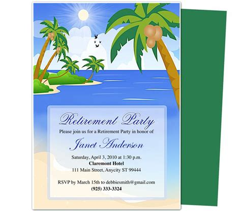 27 Best Images About Invitations On Pinterest Free Printable Retirement And Retirement Parties Retirement Invitation Template