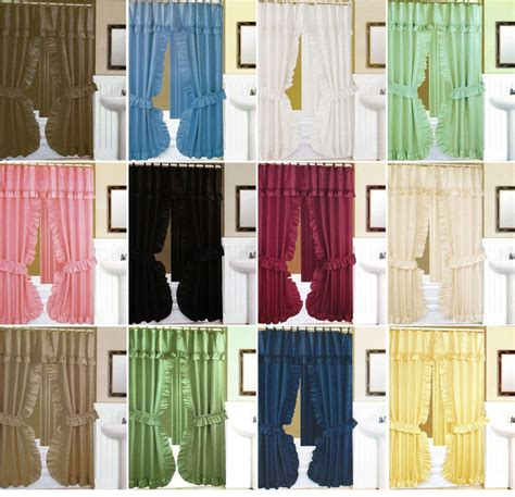 double swag fabric shower curtains double swag fabric shower curtain liner rings dobby dot