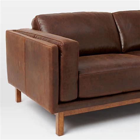 west elm dekalb sofa review buy west elm dekalb aniline leather sofa molasses john