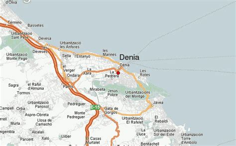 printable street map benidorm denia location guide