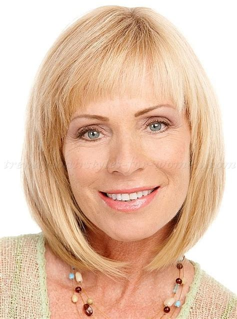hairstyles for women over 50 with bangs medium hairstyles over 50 shoulder length bob haircut