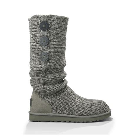 grey knitted boots 53 ugg shoes ugg australia grey knitted flat boot
