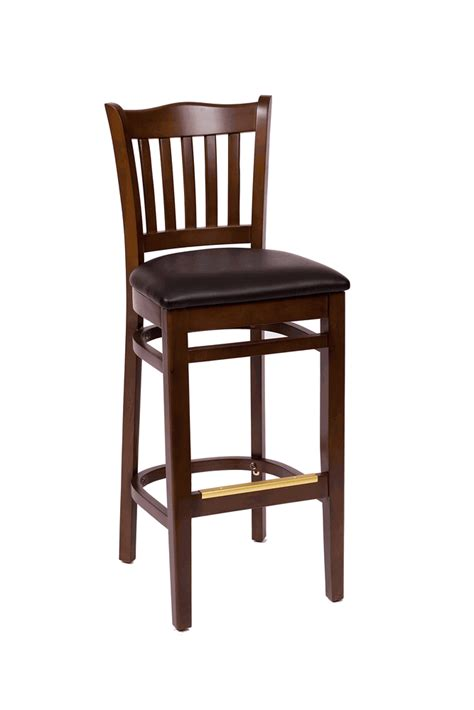 commercial bar stools with backs commercial walnut wooden cathedral vertical back bar stool