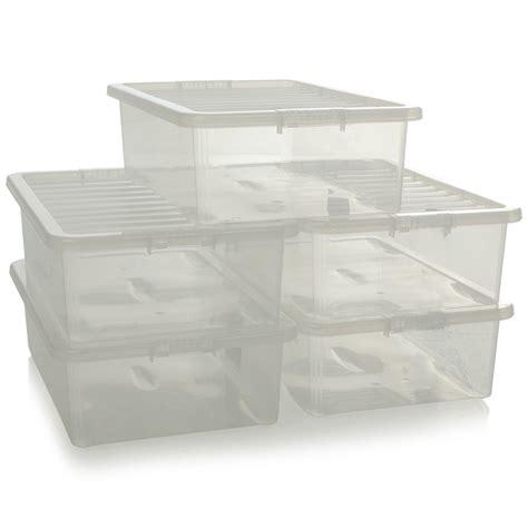 plastic under bed storage buy 32l crystal under bed plastic storage boxes plastic