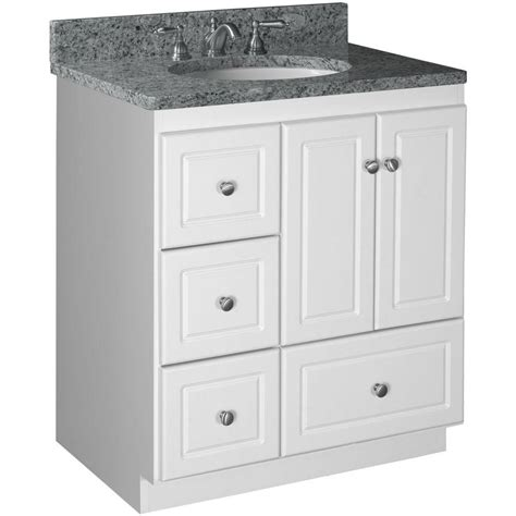 Strasser Vanity Tops by Simplicity By Strasser Ultraline 30 In W X 21 In D X 34 5 In H Vanity With Left Drawers