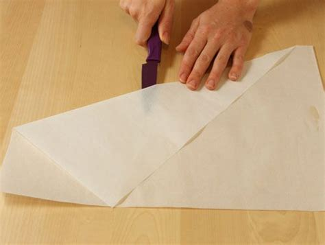 How To Fold Paper Into A Cone - how to make a paper cone fold paper into a triangle