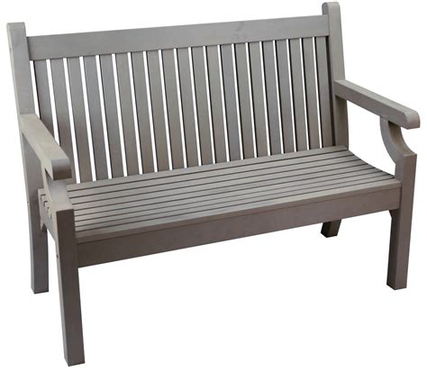 grey bench sandwick winawood 2 seater wood effect garden bench grey