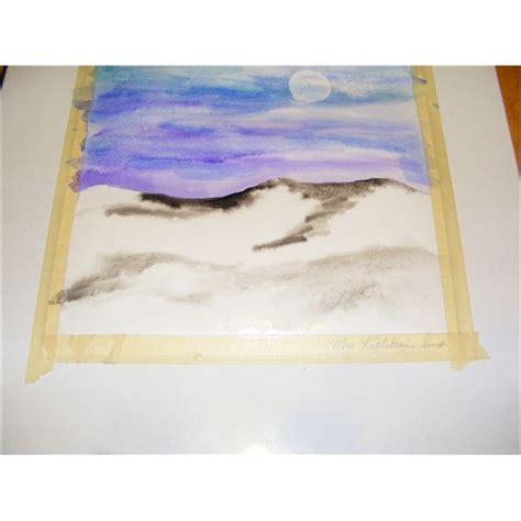 Landscape Lessons For Middle School Watercolors A Winter Watercolor Landscape Lesson Plan