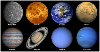 what are the colors of the planets our solar system planets in order from the sun
