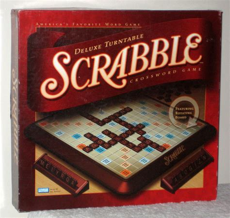 scrabble rotating board sold deluxe turntable scrabble crossword