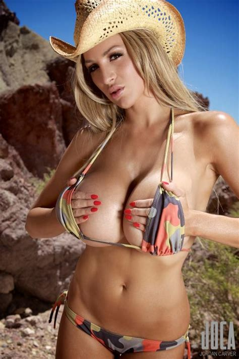 jordan carver mountain trekking  tiny colorful bikini