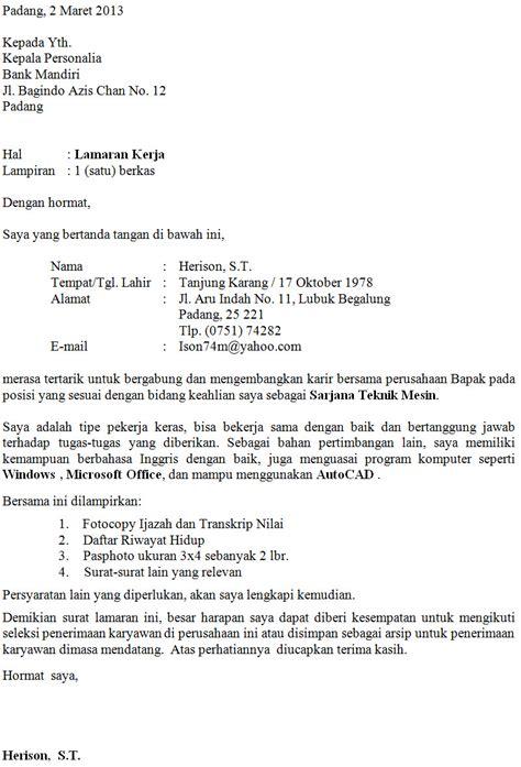 Contog Surat Lamaran Cpns Kemenristek by Contoh Surat Lamaran Cpns Riset Www Kotaksurat Co