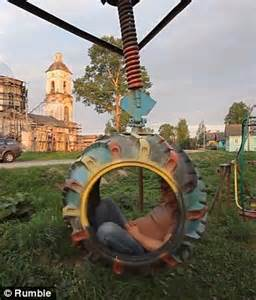 dangers of swinging is this playground in tver russia the world s most