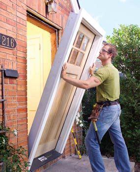 replace  exterior door prehung doors diy door