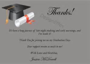graduation thank you cards designeffex