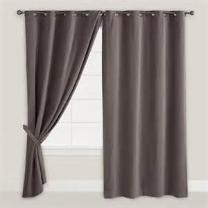 Gray Velvet Curtains Gray Velvet Grommet Top Curtain World Market