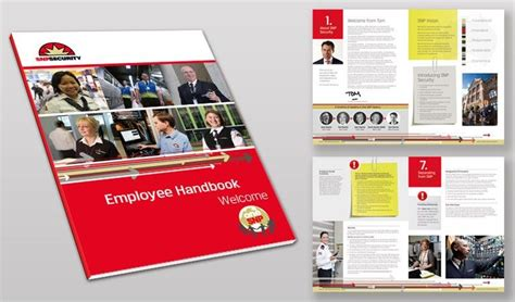employee handbook layout design paperclip and post it idea employee handbook design