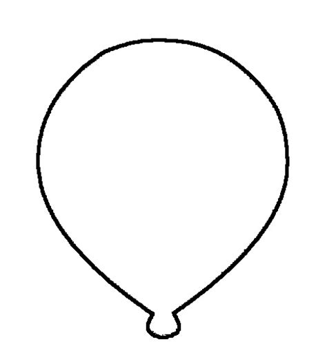 balloon template balloon outline cliparts co