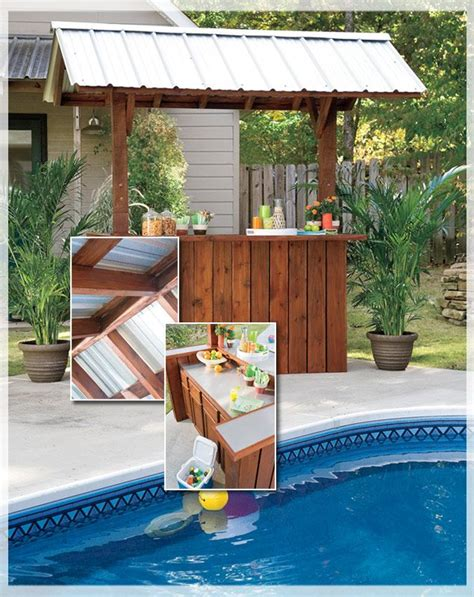 tiki bar for backyard plans from lowes backyard tiki bar pinterest the