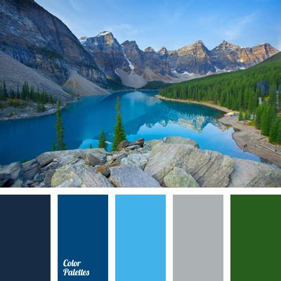 color of a mountain lake color palette ideas