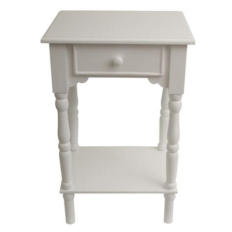 decor therapy end table decor therapy accent white end table fr1787 the home depot