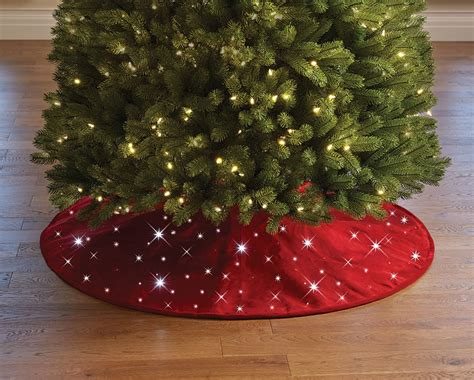 cordless twinkling christmas tree skirt the green head