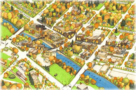 birds eye view map birds eye map of northfield minnesota on behance