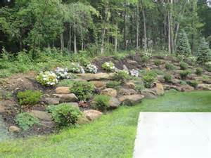 hillside landscaping with rocks garden pinterest