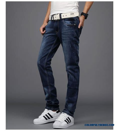 comfortable jeans for men cheap autumn and winter elastic fashion comfortable skinny