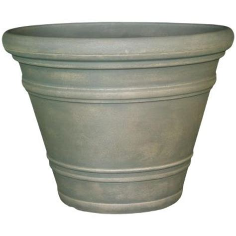 Home Depot Planter by Planters 32 In Resin Dove Gray Pienza Planter