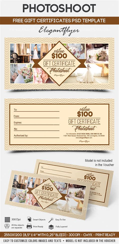 photoshoot gift certificate template photoshoot free gift certificate psd template by