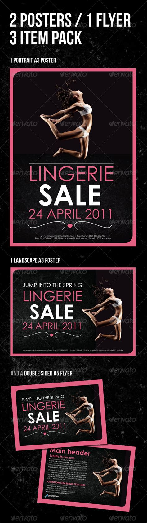 Poster A5 a3 poster a5 flyer pack 3 items by artyinc graphicriver
