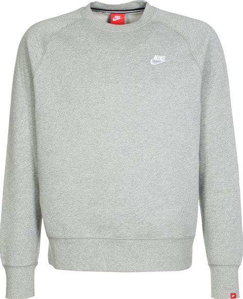 Nike Sweater Ks nike aw77 flc crew sweater grey