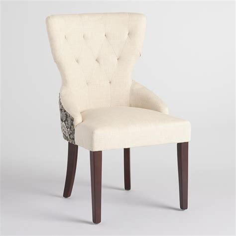 world market chairs dining black floral and linen maxine dining chair world market