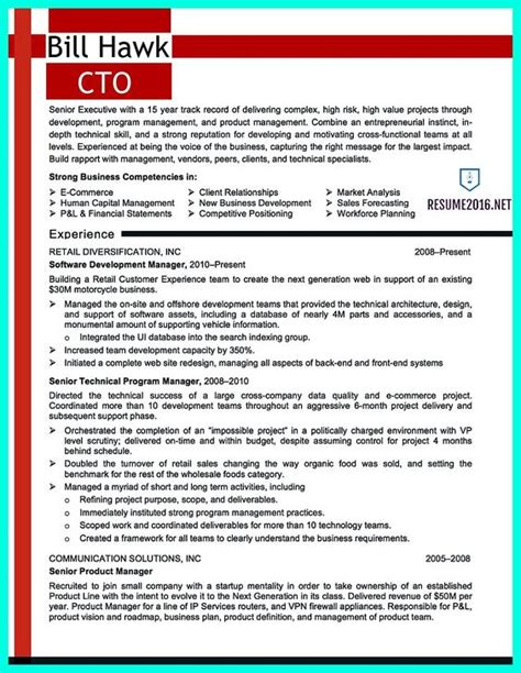 outstanding cto resume professionals templates resume and technology on