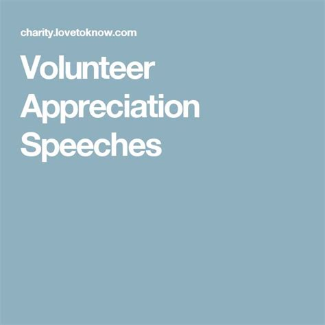Volunteer Appreciation Speech Sle 17 best ideas about appreciation speech on kid