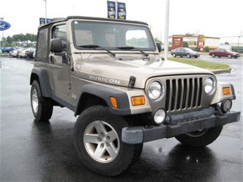 Jeep Waldorf Purchase Used 2003 Jeep Rubicon 4x4 Inline 6cyl In Waldorf