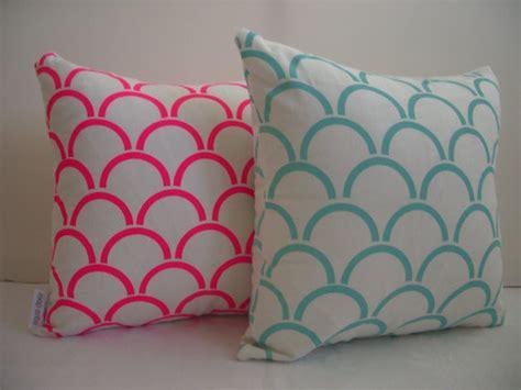 Cushion Pillow Designs by Cushion Cover Arches Design Fluro Pink By Aqua Door
