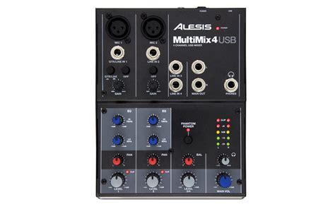 Mixer Audio Alesis alesis multimix mm4 usb four 4 channel production studio