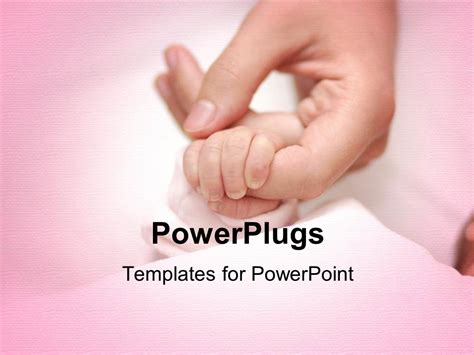 powerpoint templates free download newborn powerpoint template an adult female hand holding a baby s