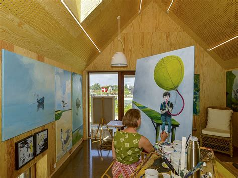 artist house artists house in hvide sande interior with painting e