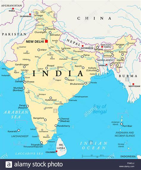 political map of delhi india political map with capital new delhi national