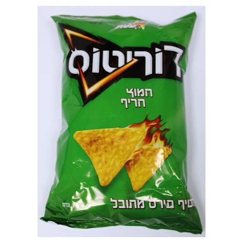 elite doritos corn chips with sour and spicy flavoring 70gr