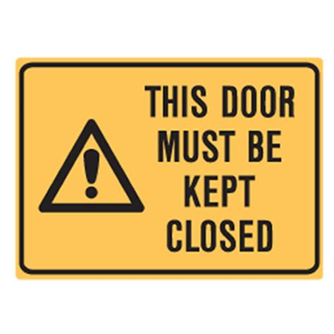 this door must be kept closed labels 90x125 sav pk5