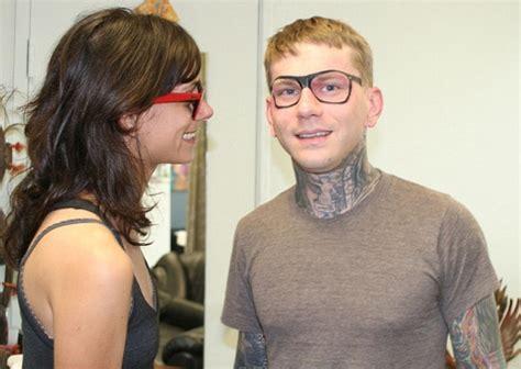 ray ban tattoo has raybans tattooed on his
